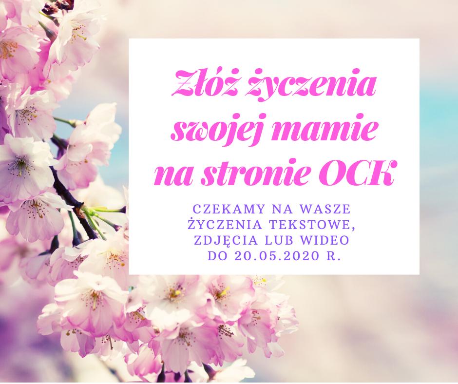 Plakat złóż życzenia swojej mamie